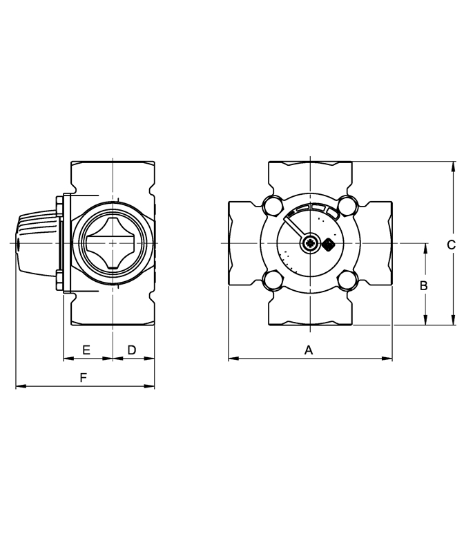 LK 841 - Female thread Measurement drawing (LKA)