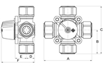 LK 841 - Compression fitting Measurement drawing (LKA)