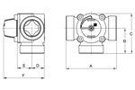LK 840 - Male thread Measurement drawing (LKA)